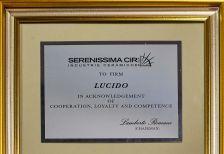 Федеральная сеть Lucido - официальный дилер бренда Serenissima